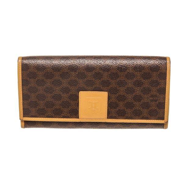 Chloe Brown Black Leather Wallet