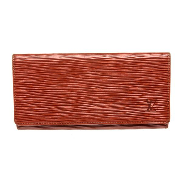 Louis Vuitton Red Epi Leather Long Flap Wallet