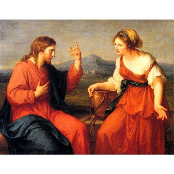 Angelica Kauffman - Christ and the Samaritan Woman
