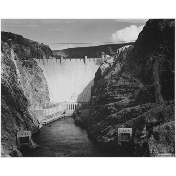 Adams - Looking Down the Colorado River Toward the Boulder Dam