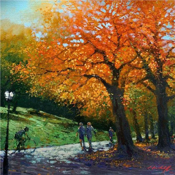 "David Hinchliffe ""Autumn in the Park"""
