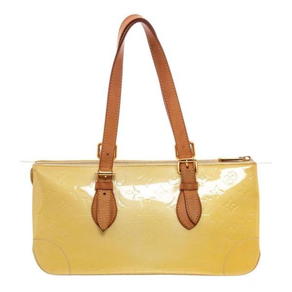 Louis Vuitton Yellow Monogram Vernis Rosewood Shoulder Bag