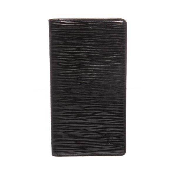 Louis Vuitton Black Epi Leather Vertical Wallet