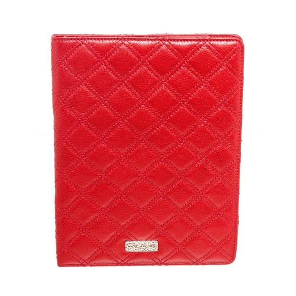 Marc Jacobs Red Tufted Leather Tablet Case