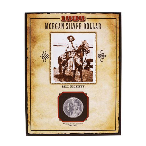 1888 $1 Morgan Silver Dollar Coin Bill Pickett Legends of the Wild West