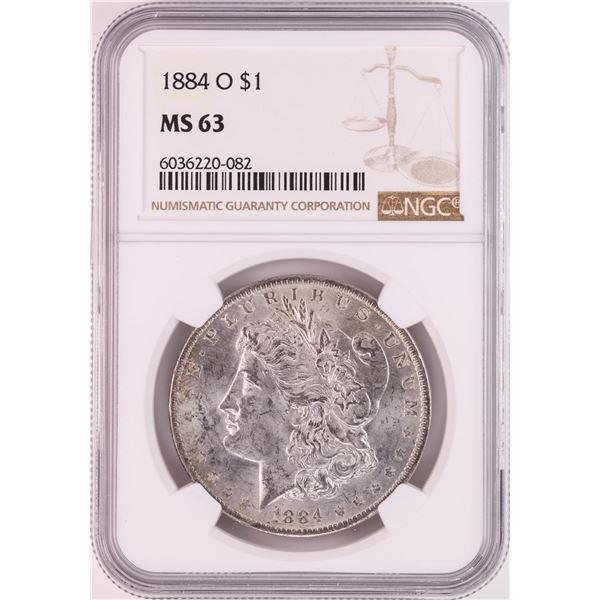 1884-O $1 Morgan Silver Dollar Coin NGC MS63 Great Toning
