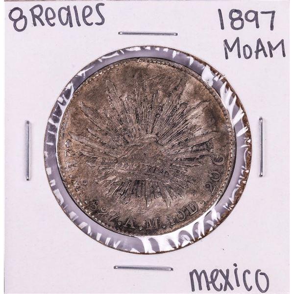 1897 Mo AM Mexico 8 Reales Silver Coin