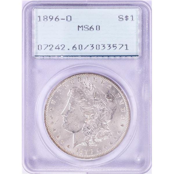 1896-O $1 Morgan Silver Dollar Coin PCGS MS60 Old Rattler Holder
