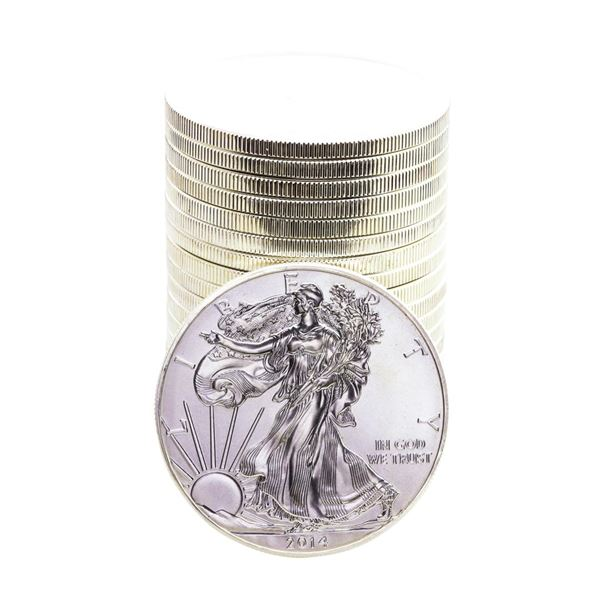 Roll of (20) Brilliant Uncirculated 2014 $1 American Silver Eagle Coins