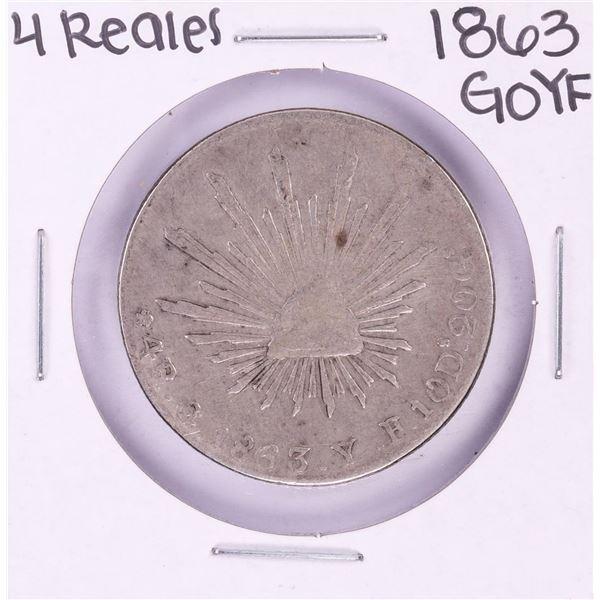 1863 GoYF Mexico 4 Reales Silver Coin