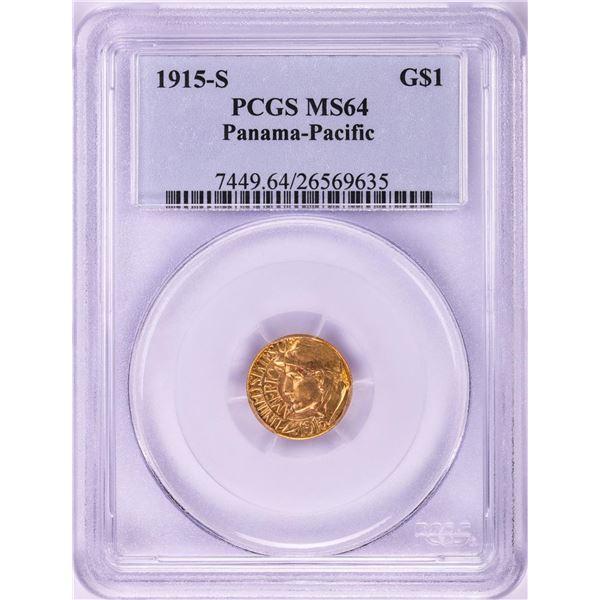 1915-S $1 Panama-Pacific Commemorative Gold Coin PCGS MS64
