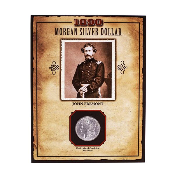1890 $1 Morgan Silver Dollar Coin John Fremont Legends of the Wild West