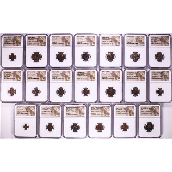 Lot of (20) Ancient Roman Empire Coins NGC Certified