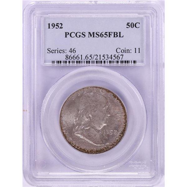 1952 Franklin Half Dollar Coin PCGS MS65FBL