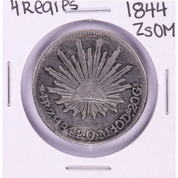 1844 ZsOM Mexico 4 Reales Silver Coin