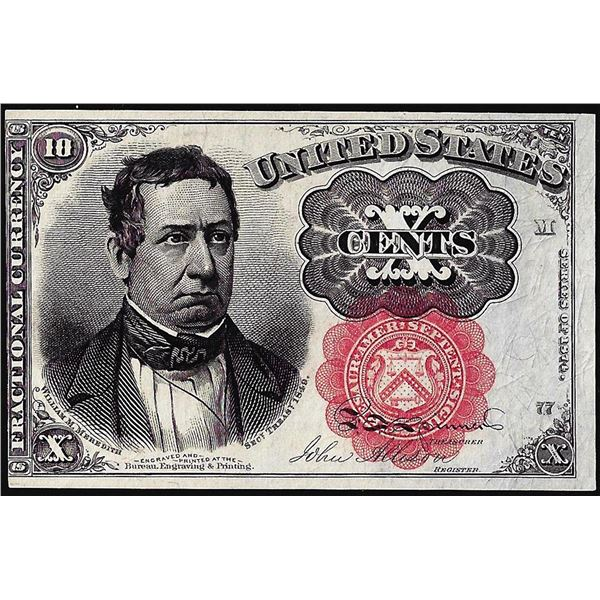 1874 Fifth Issue Ten Cents Fractional Currency Note