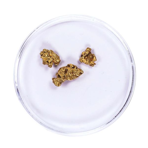 Lot of Gold Nuggets 1.86 Grams Total Weight