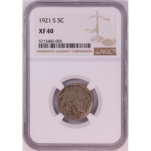 1921-S Buffalo Nickel Coin NGC XF40