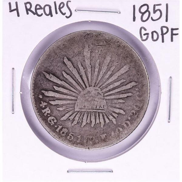 1851 GoPF Mexico 4 Reales Silver Coin