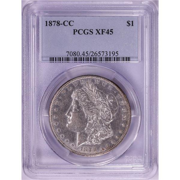 1878-CC $1 Morgan Silver Dollar Coin PCGS XF45