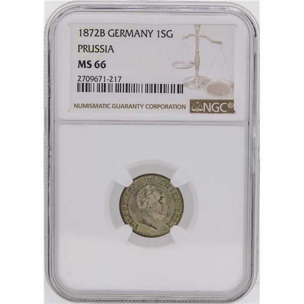 1872B Germany 1 Silber Groschen Prussia Coin NGC MS66