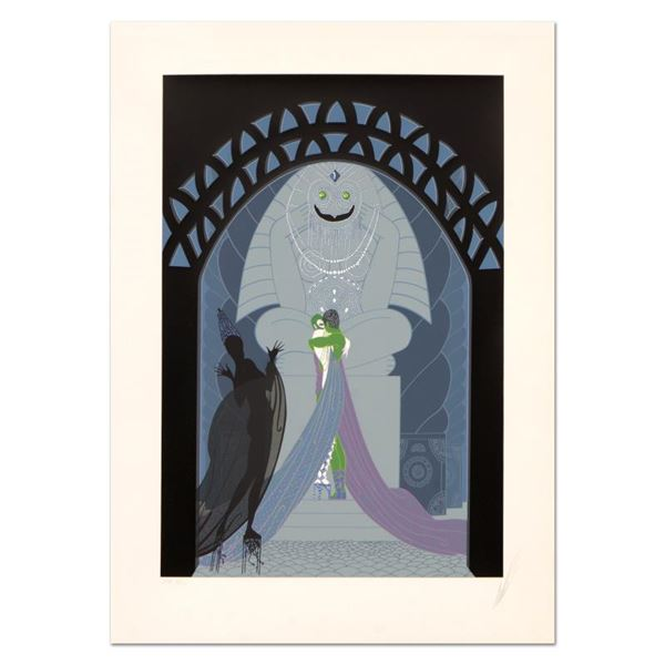 """Erte (1892-1990) """"Lovers and Idol"""" Limited Edition Serigraph on Paper"""