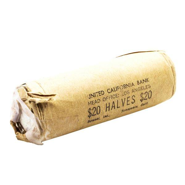 Original Shotgun Roll of (40) Brilliant Uncirculated 1963-D Franklin Half Dollar Coins