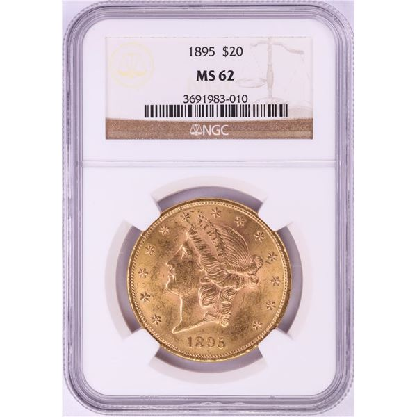 1895 $20 Liberty Head Double Eagle Gold Coin NGC MS62