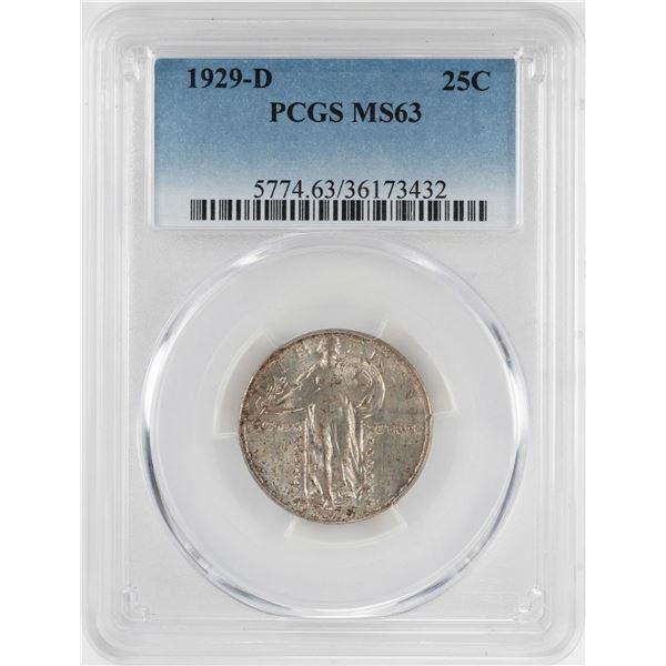 1929-D Standing Liberty Quarter Coin PCGS MS63