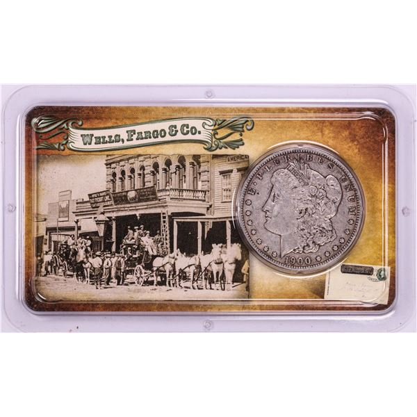 1900-O $1 Morgan Silver Dollar Coin Wells Fargo & Co. Tribute to the Wild West