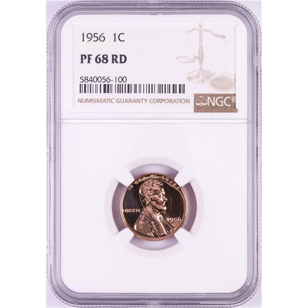 1956 Proof Lincoln Wheat Cent Coin NGC PF68RD