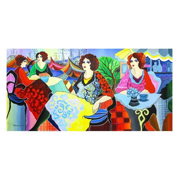 "Govezensky ""Listening To Music"" Original Acrylic on Canvas"