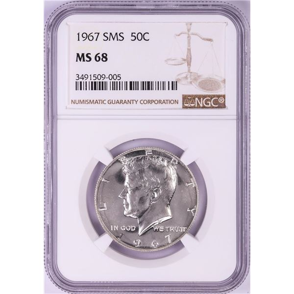 1967 SMS Kennedy Half Dollar Coin NGC MS68