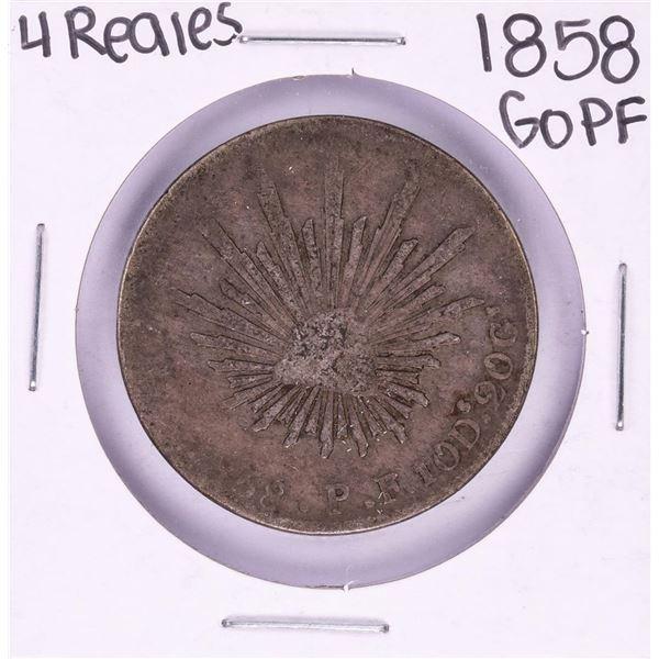 1858 GoPF Mexico 4 Reales Silver Coin