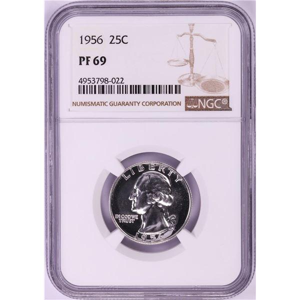 1956 Proof Washington Quarter Coin NGC PF69