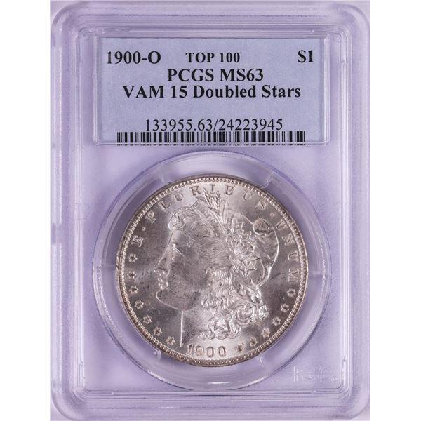 1900-O VAM-15 Doubled Stars $1 Morgan Silver Dollar Coin PCGS MS63 Top 100