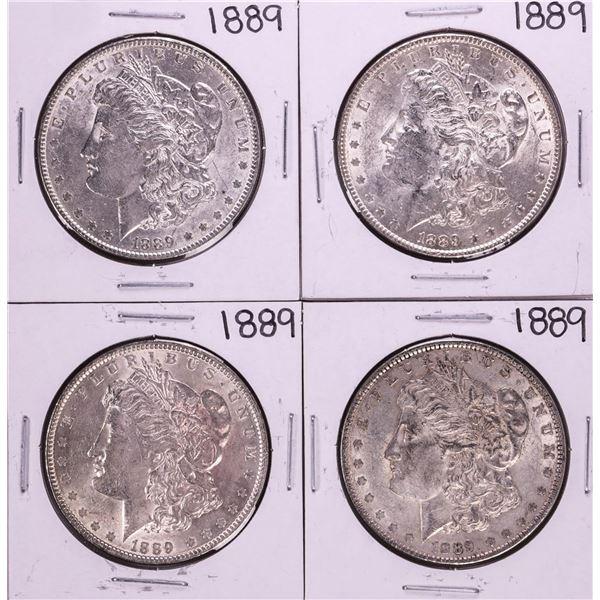 Lot of (4) 1889 $1 Morgan Silver Dollar Coins