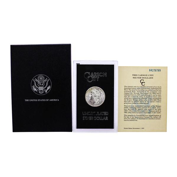 1884-CC $1 Morgan Silver Dollar Coin GSA Hoard Uncirculated w/Box & COA
