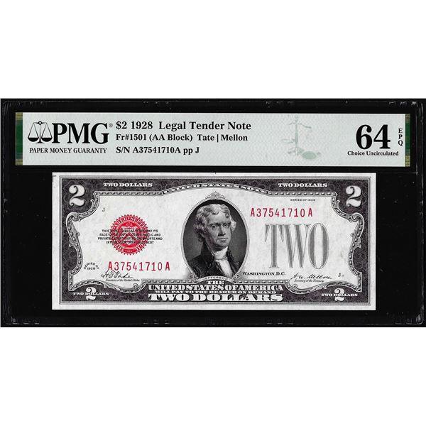 1928 $2 Legal Tender Note Fr.1501 PMG Choice Uncirculated 64EPQ