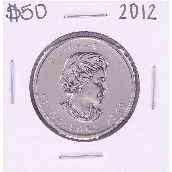 2012 $50 Canada 1oz. Platinum Maple Leaf Coin