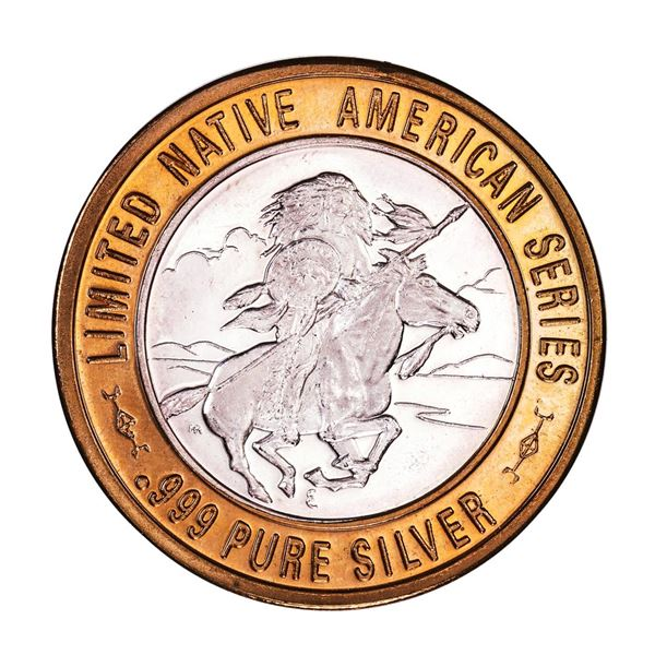 .999 Silver Chief Ouray, UTE $10 Casino Limited Native American Series Gaming Token