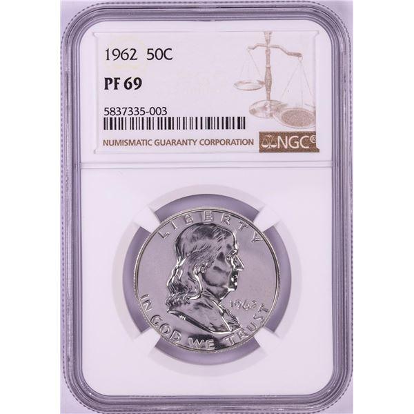 1962 Proof Franklin Half Dollar Coin NGC PF69