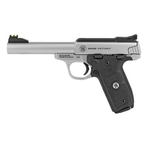 """S& W VICTORY 22LR 5.5"""" 10RD STS AFOS"""