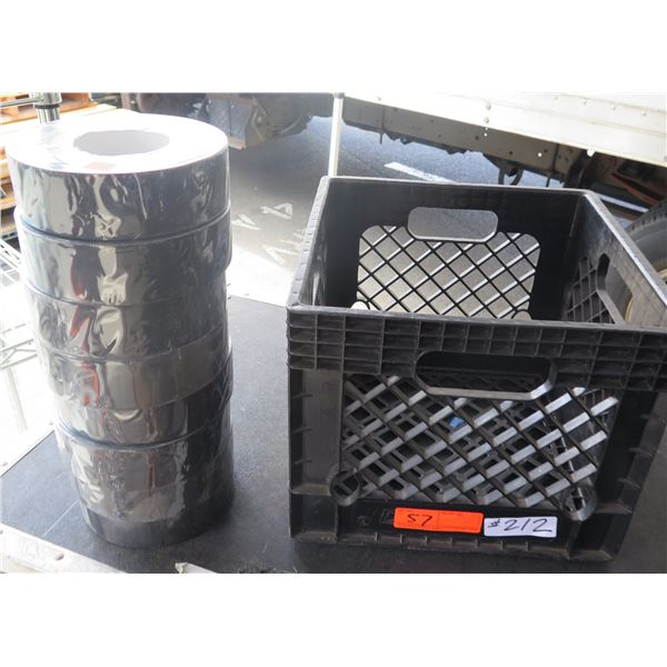 Crate of  Large Rolls of Stage Tape GFT-447BK - All New in Plastic Wrap