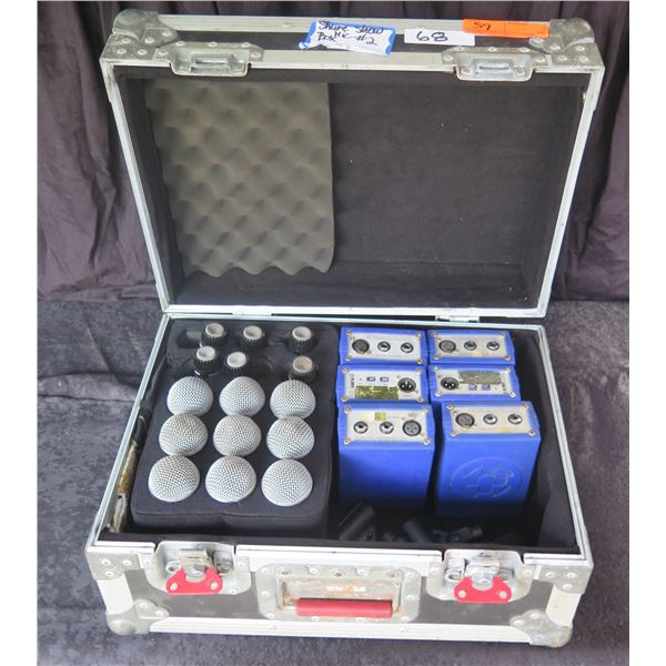 Mic Box: Qty 9 SM58, 6SM57, 6 KT Blue DI's & Spare Clips in Gator Case