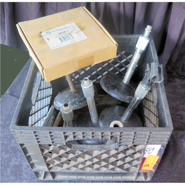 Crate of Short Desk Mic Stands