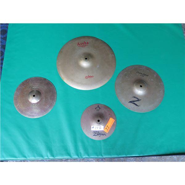 """Cymbal Set: Paiste 10"""" Belle, Zildjian Splash 12"""" & AZUKA Latin Hand Cymbal"""