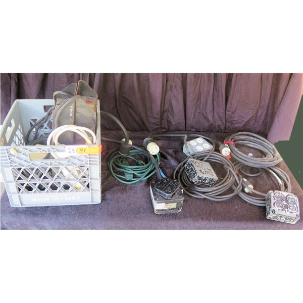 Crate of Power Boxes & Custom Cables