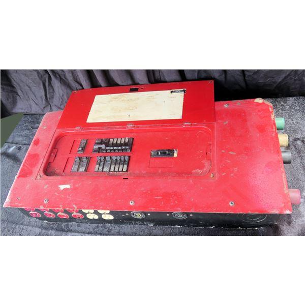Temporary Power Box Single Phase 4 Wire Input, 100 Amp x 2 Master Breaker