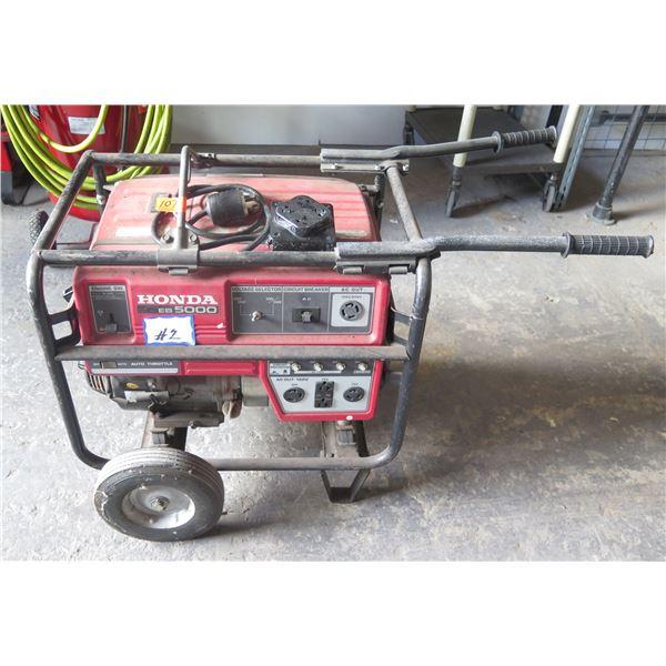 Honda EB5000 5k Portable Generator w/ Custom 30 Amp Plug to Maximize Power.